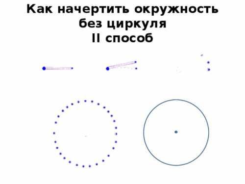 Как начертить окружность без циркуля