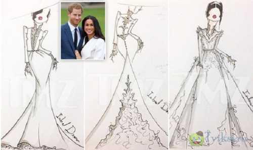 Дизайнер Inbal Dror представил эскизы свадебного платья Меган Маркл