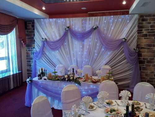 Украшение зала на свадьбу: фото вариантов
