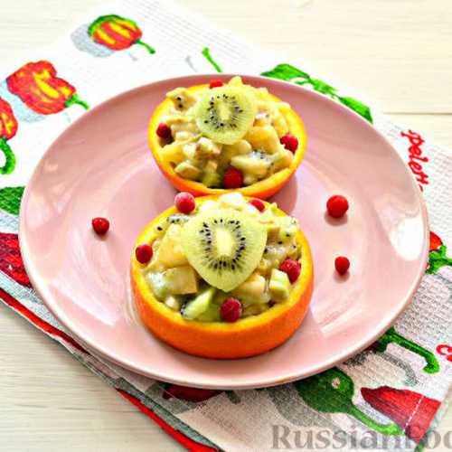 Очень вкусный рецепт фруктового салата к 8 марта Рецепт