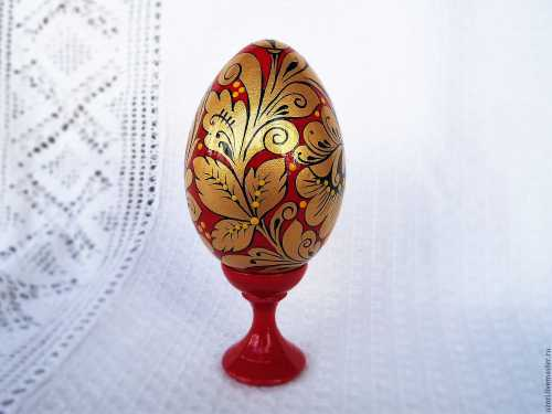 Пасхальное яйцо Золотая хохлома