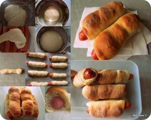 Сосиски в тесте: рецепт с фото