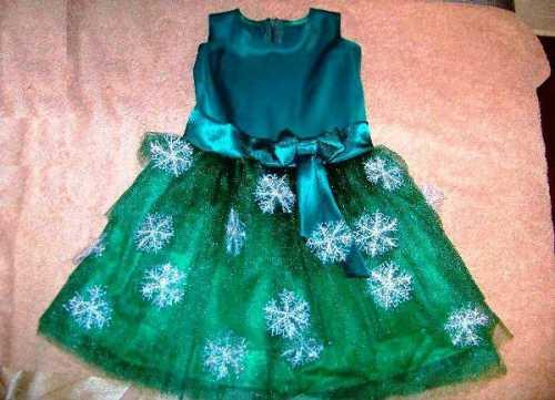 Сшить новогоднее платье для девочки