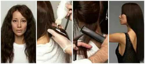 Выпрямляем волосы феном