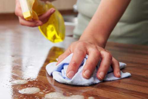 Уход за полированной и мягкой мебелью Удаление пятен