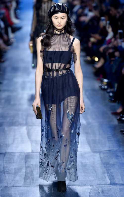 Звёздные образы на показе коллекции модного дома Dior фото