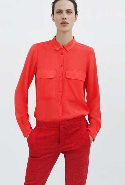 Красные акценты в новой коллекции Zara фото