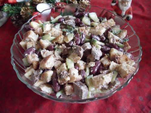 Быстрые салаты Салат с говядиной и фасолью
