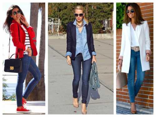 Например, летом белые джинсыклеши можно прекрасно сочетать с коралловой блузкой