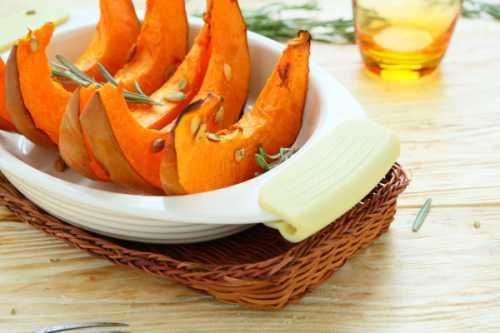 Вкусно и полезно: печеная тыква
